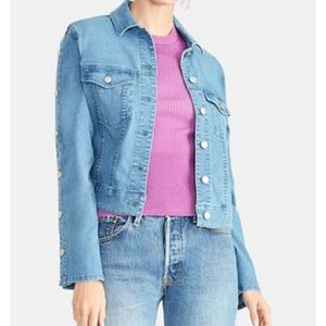 RACHEL Rachel Roy Bobbi Snap-Sleeve Denim Jacket